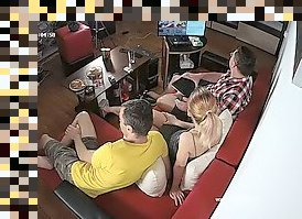 threesome hidden cam